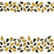 żółte dębowe liście na białym tle jesienny podwójny border