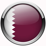 qatar flag gel metal button on white