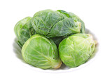 Bowl of fresh Brussels sprouts