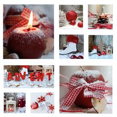 Collage Weihnachtsambiente
