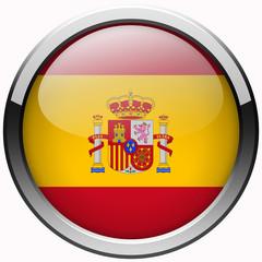 national spain flag gel metal button
