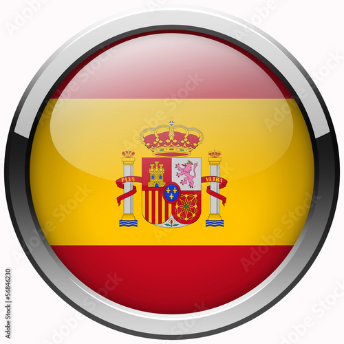 national spain flag gel metal button