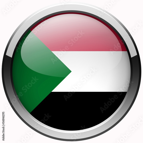 sudan national flag gel metal button