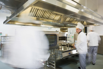 Team of chefs working in a kitchen
