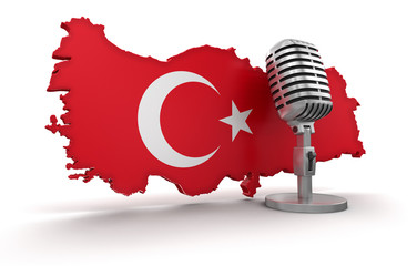 Microphone and Turkey (clipping path included)
