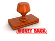 Rubber Stamp Money Back (clipping path included)