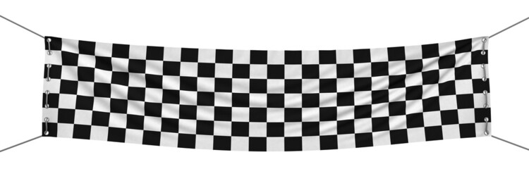 Checkered Banner (clipping path included)