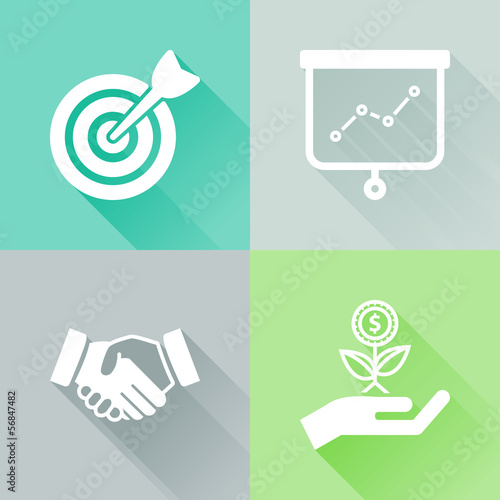 Success colorful flat icons
