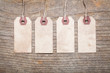 Assortment of vintage tags and labels