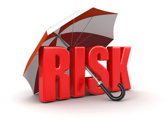 Risk under Umbrella (clipping path included)