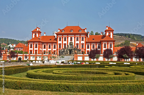 Baroque chateau Troja.Prague.Czech republic.