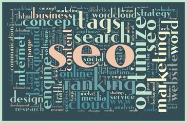 SEO concept tag cloud