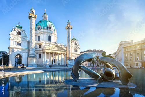 Aluminium Wenen Karlskirche in Vienna, Austria