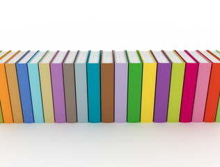 colorful books isolated on white background