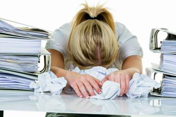 Verzweiflung durch Bürokratie