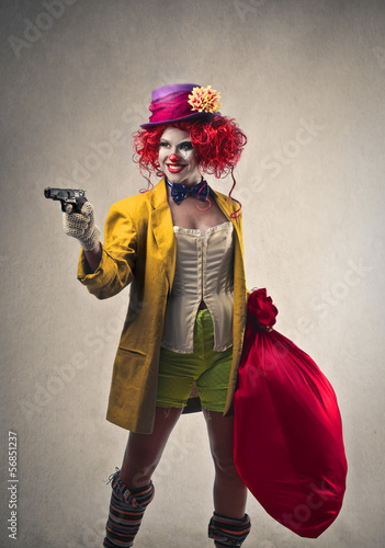 robber clown