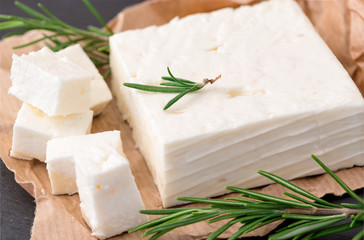 Delicious Greek feta cheese