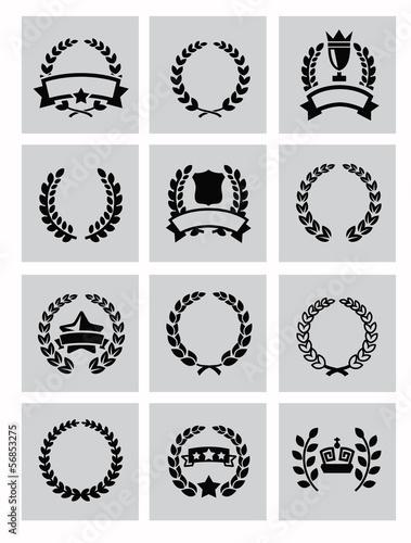 laurel wreaths icon