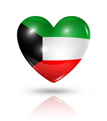 Love Kuwait, heart flag icon