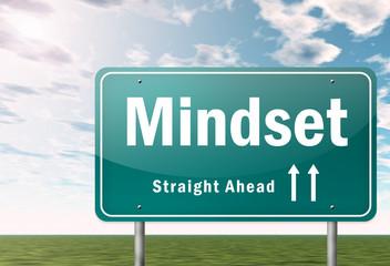 """Highway Signpost """"Mindset"""""""