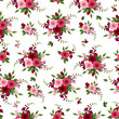 Vector seamless pattern roses and freesia.