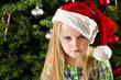 Sad little girl during christmas