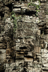 Angkor Thom - The Bayon - the serenity of the stone faces