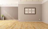 Minimalist empty interior