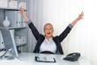 erfolgreiche Frau im Büro