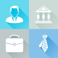 Businessman colorful flat icons