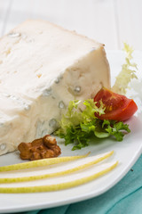 Gorgonzola, typical italian cheese, close-up