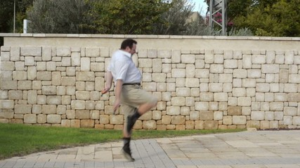 Fatty jumping with a skipping rope