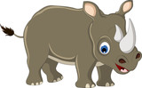 funny rhino cartoon for you design