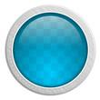 Button rund Edelstahl blau