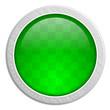 Button rund Edelstahl grün