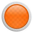Button rund Edelstahl orange
