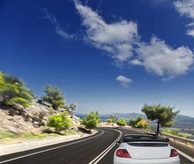 Asphalt road. blurred motion