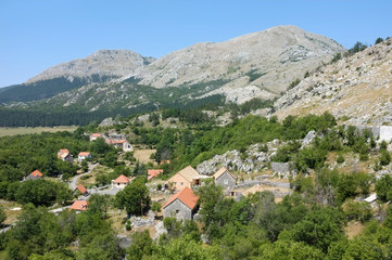 Njegusi is a village within the Lovcen National Park, Montenegro