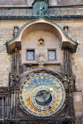 old astronomical clock, city - Prague, Czech Republic, Europe