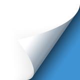 Fototapety Papier - Ecke unten blau