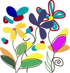 рисунок цветы-любовь