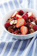 Granola with fresh and dried fruits