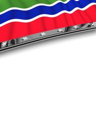 Designelement Flagge Gambia