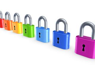 Colorful locks.