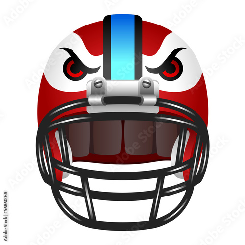 Footbal helmet with eyes