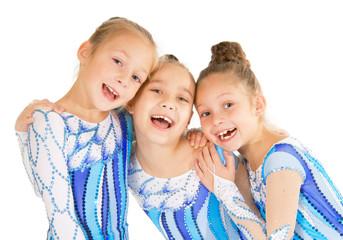 Little beautiful gymnasts