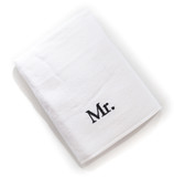 mr white towel isolated on a white background
