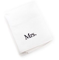mrs white towels isolated on a white background