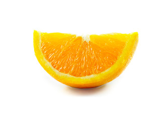 piece of orange isolated on a white background