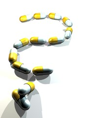 Capsules Question Mark silver bright-gold